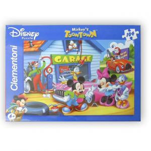 104 Parça Puzzle : Mickey The Garage