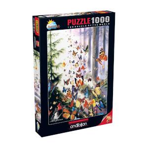 1000 Parça Puzzle : Kelebek Ormanı