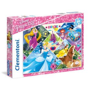 60 Parça Puzzle : Disney Princess