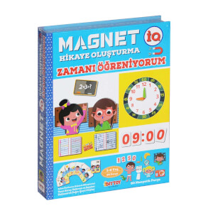 Manyetik Magnet Hikaye Oluşturma Zamanı Öğreniyorum