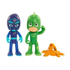 PijaMaskeliler İkili Figür (Biri Işıklı) (Gekko&Night Ninja)
