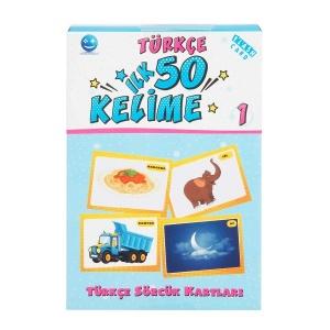 İlk 50 Kelime Türkçe Sözcük Kartları