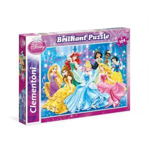 104 Parça Puzzle : Brilliant Disney Prensesler