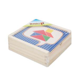Ahşap Domino Tangram 32 Parça