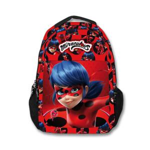 Miraculous Ladybug Okul Çantası Kırmızı-Siyah 2001