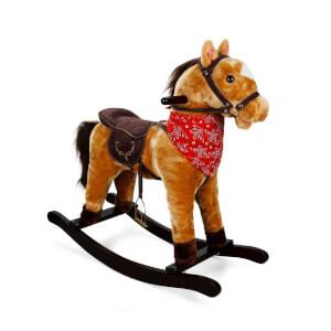Sallanan Fularlı At Hareketli ve Müzikli Açık Kahverengi