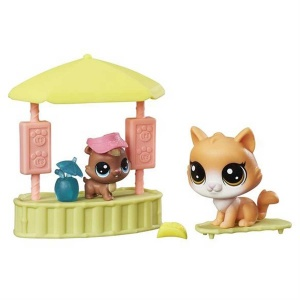 Littlest Pet Shop Miniş Mini Oyun Seti (Pool House)