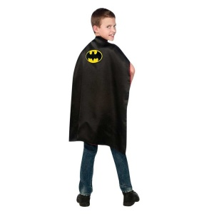 Batman ve Superman Çift Taraflı Pelerin Kostüm Standart Beden