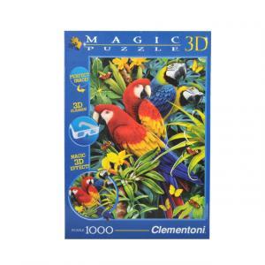 1000 Parça 3D Puzzle : Majestic Macaws