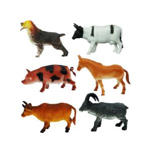 Çiftlik Hayvanları Poşetli 6'lı Hayvan Oyun Seti