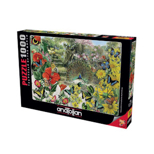 1000 Parça Puzzle : Bahçedeki Tavuskuşu
