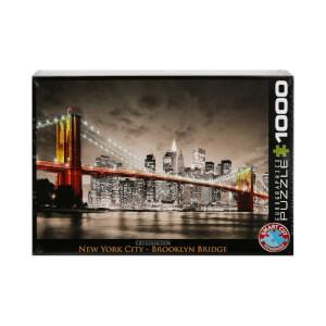 1000 Parça Puzzle : New York City Brooklyn Köprüsü
