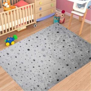 Firstmoon Gökyüzü Çocuk Halısı Gri 100 x 160 cm.