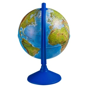 Işıklı Fiziki - Siyasi Dünya Küresi 26 cm.