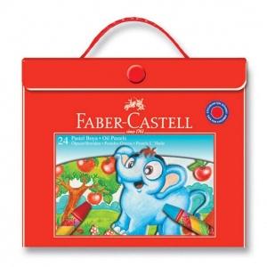 Faber Castell Plastik Çantalı Pastel Boya 24 Renk