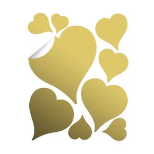 BugyBagy Gold Duvar Sticker Kalp Yağmuru 97 Adet