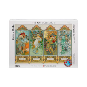 1000 Parça Puzzle : The Four Seasons - Alphonse Mucha