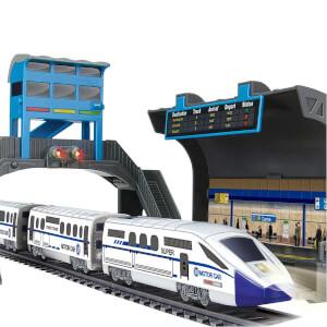 Işıklı Tren Seti İstasyonu 17 Parça