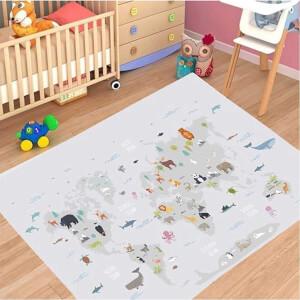 Firstmoon First Animals Çocuk Halısı Gri 100 x 160 cm.