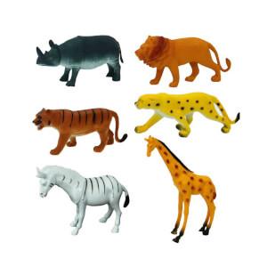 Vahşi Hayvanlar Poşetli 6'lı Hayvan Oyun Seti