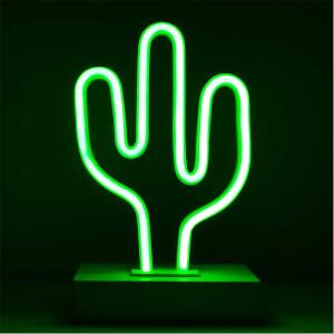 Dekoratif Neon Işıklı Kaktüs