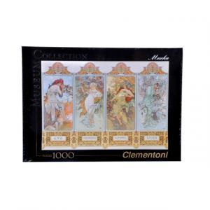 1000 Parça Puzzle : Mucha The 4 Seasons