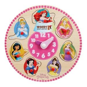 Disney Princess Ahşap Bultak Raptiyeli Saat