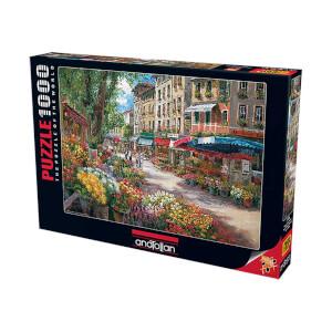 1000 Parça Puzzle : Paris Çiçek Pazarı