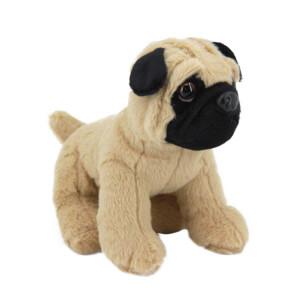 Sesli Pug Köpek Peluş 25 cm.