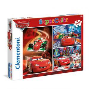 3 x 48 Parça Puzzle : Cars