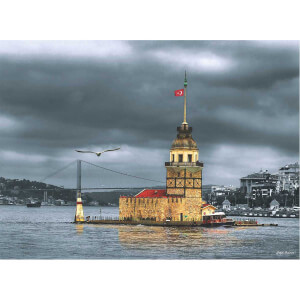 1000 Parça Puzzle : Kız Kulesi Nostalji