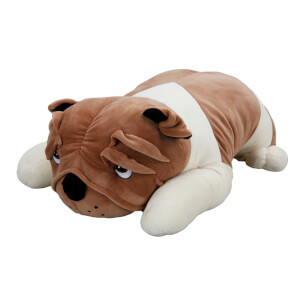 Yatan Buldog Peluş Köpek 45 cm.