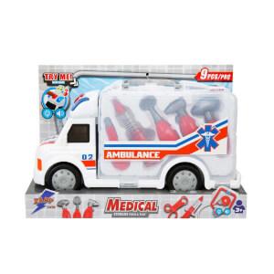 Sesli ve Işıklı Çantalı Ambulans Doktor Seti