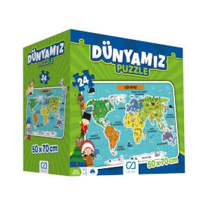24 Parça Puzzle : Dünyamız
