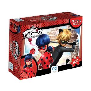 100 Parça Puzzle : Miraculous Ladybug Kırmızı