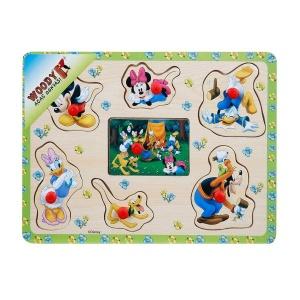 Mickey Mouse Ahşap Raptiyeli Puzzle