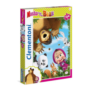 104 Parça Puzzle : Masha and the Bear 1