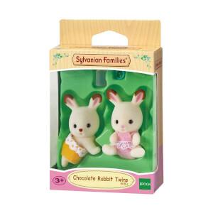 Sylvanian Families Çikolata Kulaklı İkiz Tavşan Bebekler