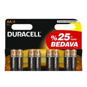 Duracell Kalem Pil AA 6+2