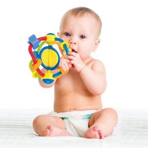 Pal Baby Renkli Çıngırak Top