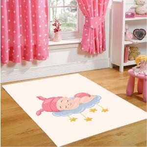 Firstmoon Uyuyan Bebek Çocuk Halısı Pembe 120 x 180 cm.