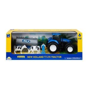 1:32 New Holland T7.270 Traktör Çiftlik Oyun Seti