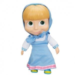 Maşa Bebek 23 cm. (Mavi Elbiseli)