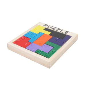 Woody Ahşap Renkli Puzzle 8 Parça