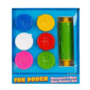 Fun Dough Aksesuarlı 6 Renk Oyun Hamuru Seti