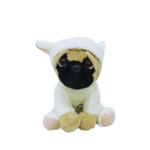 Kıyafetli Havlayan Peluş Pug Köpek