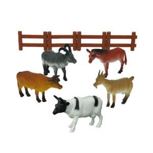 Çiftlik Hayvanları Poşetli Hayvan Oyun Seti Orta Boy