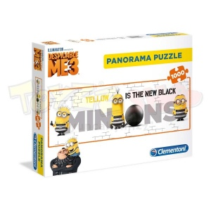 1000 Parça Puzzle: Panorama Minions 3: Yellow is the New Black