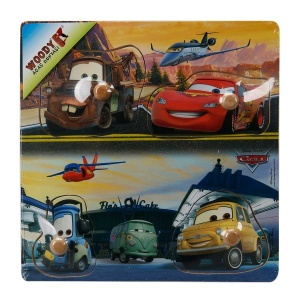 Cars Ahşap Raptiyeli Puzzle 4 Parça