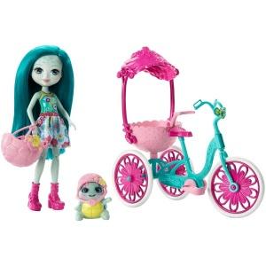 Enchantimals Bebek ve Aracı FJH11 (İki Kişilik Bisiklet)